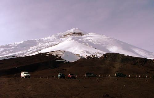 Cotopaxi from parking lot.