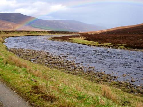 Rainbow over the Cairngorms