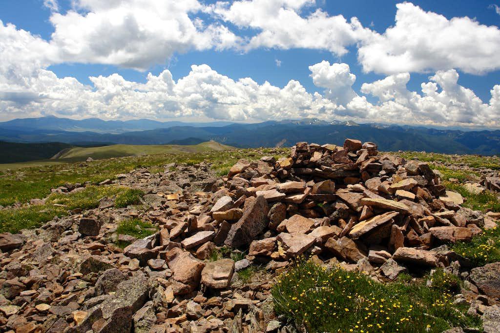 Latir Mesa summit cairn