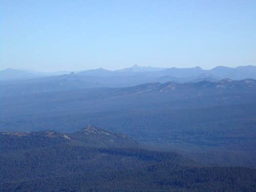 Mt. Thielsen and Crater Lake...