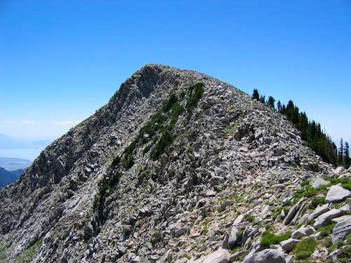 Looking south at Chipman Peak...