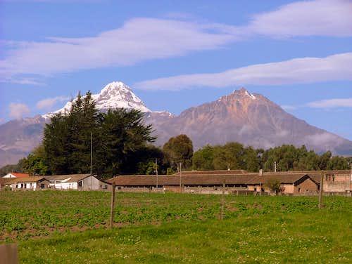 Illiniza Sur and Norte.