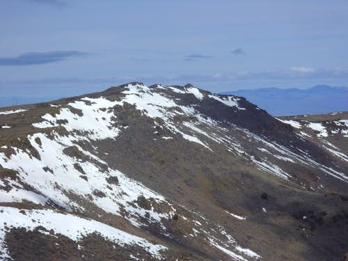 Zoom shot of the summit bumps atop Pah Rah Mountain