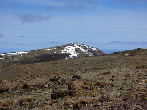 View of Pah Rah Mountain heading along the ridge