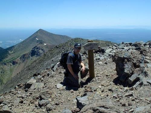 Me on the summit, July 2003.