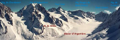Panoramic View of Aiguille d'Argentière