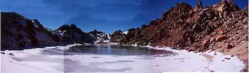 Sabalan lake in highest point...