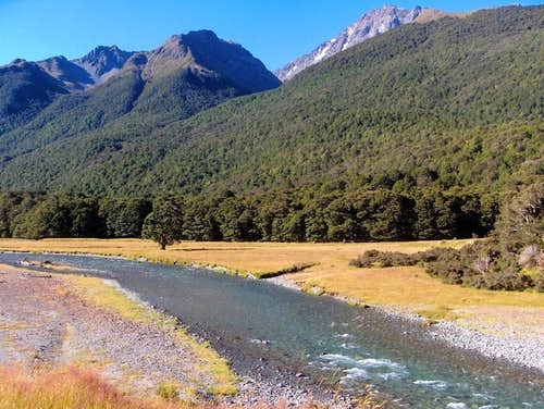 The upper Caples river valley