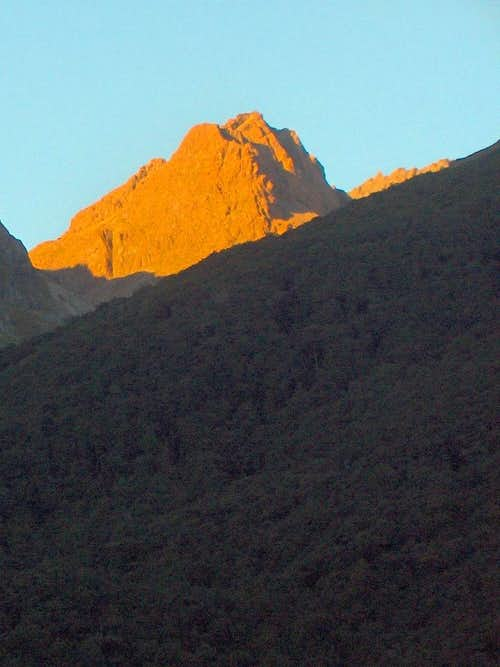 Alpenglow over the Humboldt Mountains
