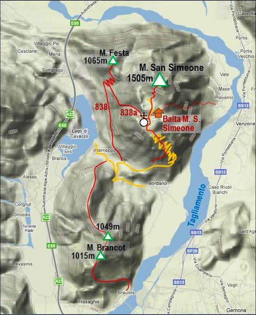 Monte San Simeone map