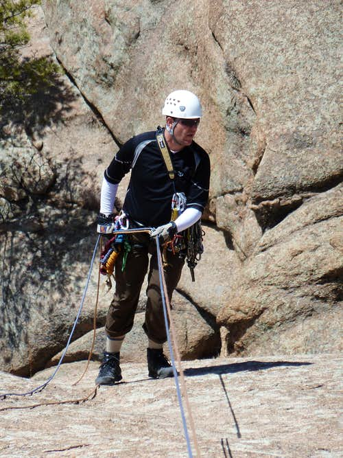 On rappel down Bolted Route
