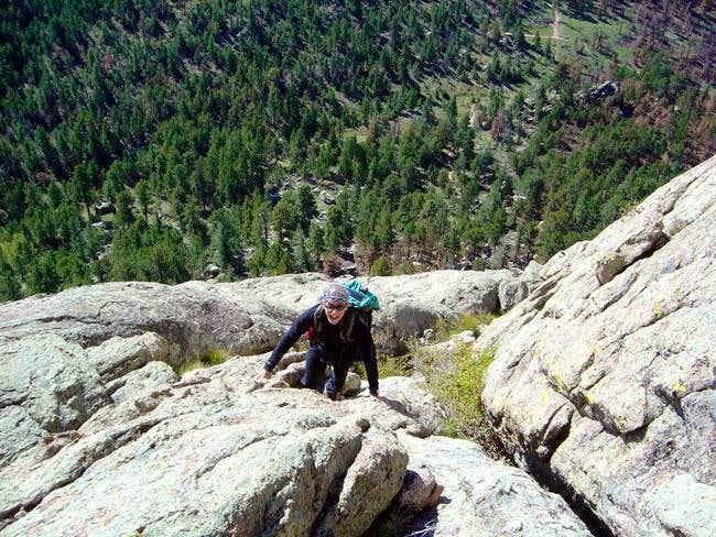 Nelson climbs the