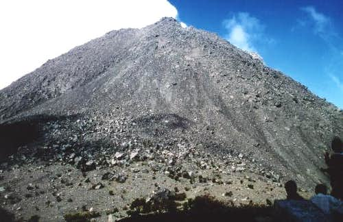 the new dome of Merapi - in...