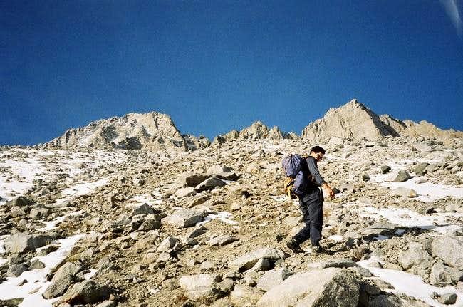 Climbing towards the start of...