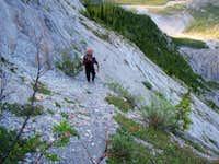 Elevation gain after crossing Glacier River