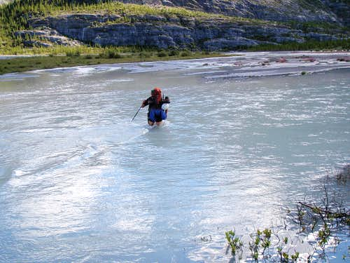 The Glacier River crossing