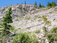 The headwall of Mount Forbes