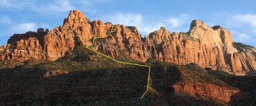 Mount Kinesava-- East Face Route