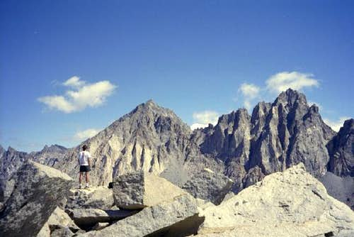 Mount Agassiz (left) and...