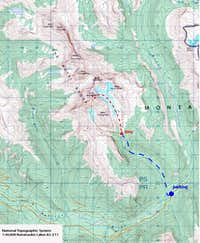 King George topo map