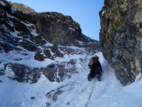 Blair leading crux