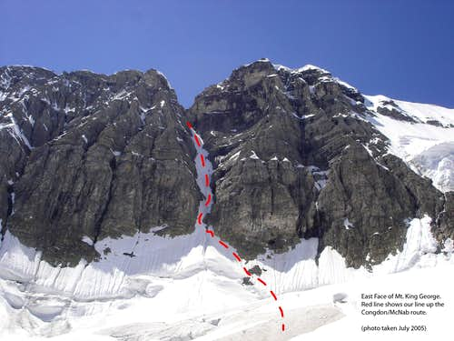 Congdon/McNab Couloir (route marked)