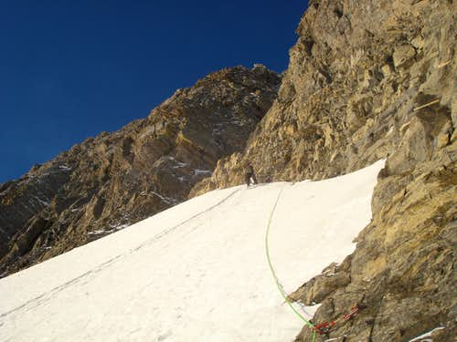 Lower ice below couloir