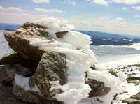 Mt Washington NH in the spring