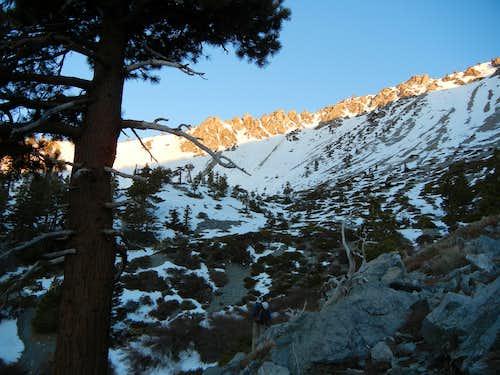 Mt. Baldy Bowl at Dawn