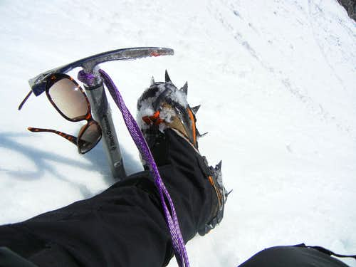 Crampon and Ice Axe