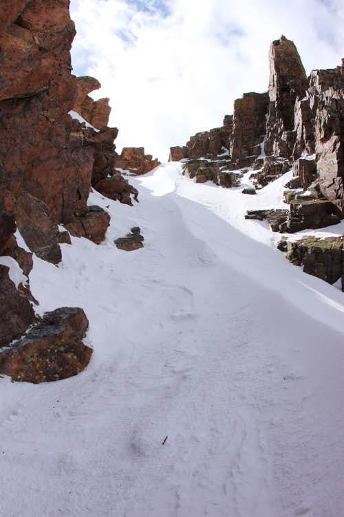 Top of Naked Lady Couloir