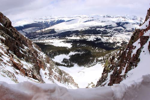 View From Near Top of Naked Lady Couloir