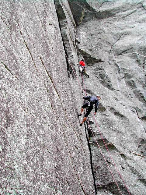 climbing on Sasso Remenno