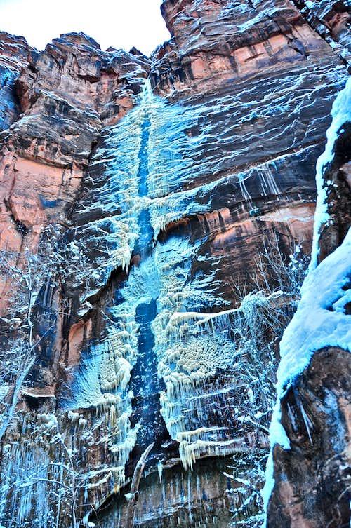 Frozen Waterfall near Temple of Sinawava