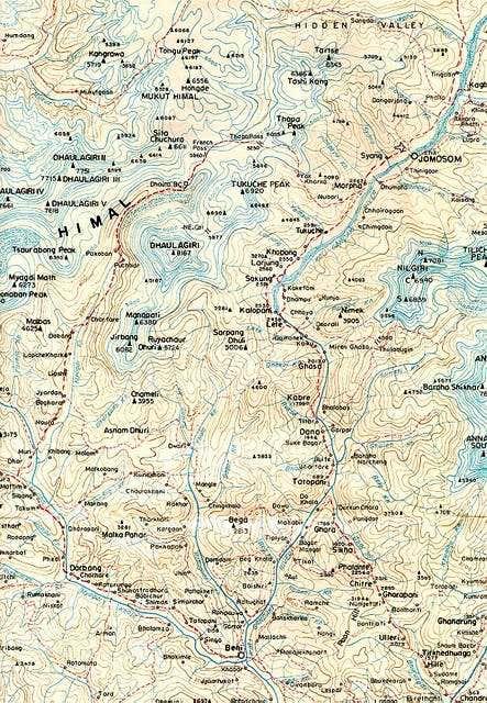 Map of Dhaulagiri