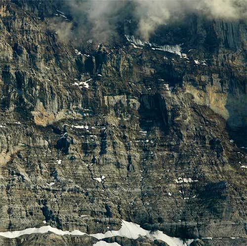 Lower part of Eiger N face