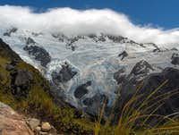 Steep glaciers on Mount Sefton