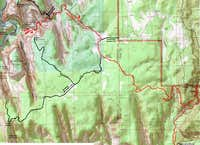 Map of East Rim, Deertrap Mtn. & Cable Mtn. Trails