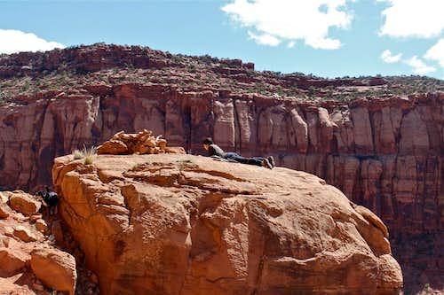 Non climber at Indian Creek