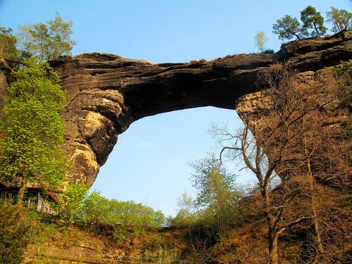 Europe\'s largest natural sandstone arch