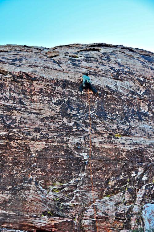 Climber near the top...
