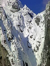 One of Mount Index\'s Steep Gullys