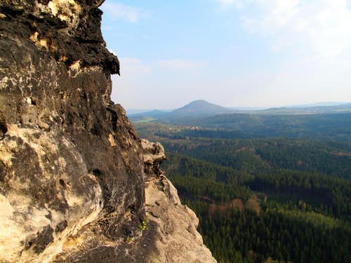 View to the east from Pravčická brána (Prebischtor)