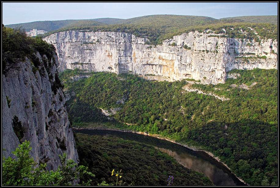 The walls of Ardeche canyon