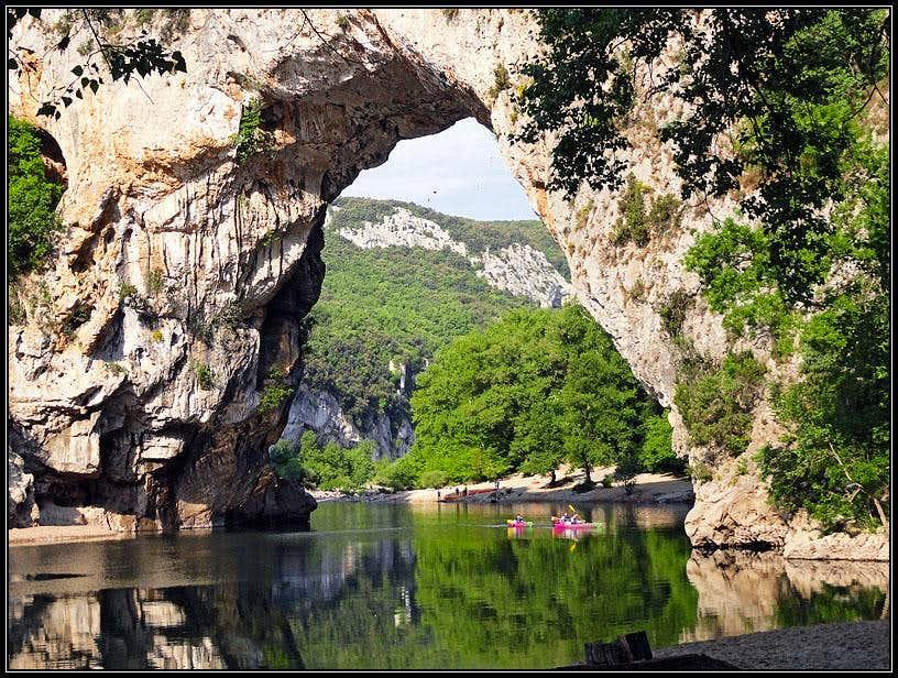 Pont d'Arc on Ardeche