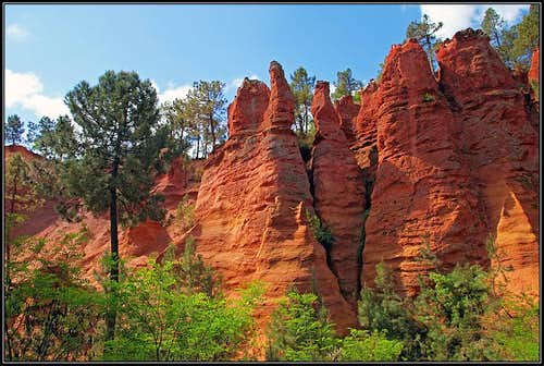 Roussillon ocre cliffs