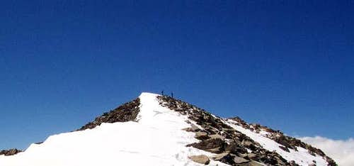 The summit ridge of Mt....