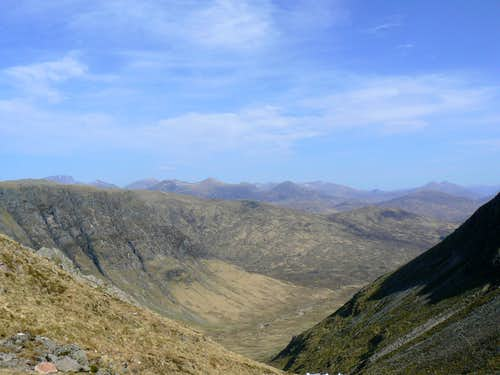 View above Lairig Gartain