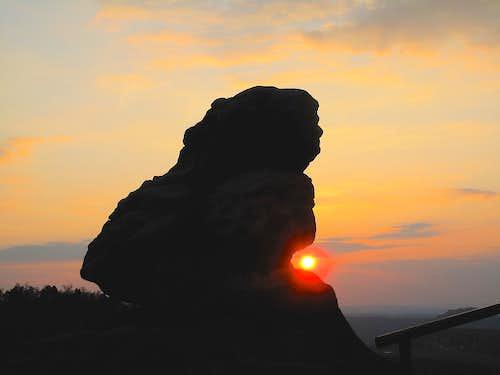 Sunset on Papststein