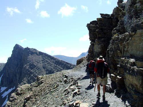 Point 8490 near top of Siyeh Pass